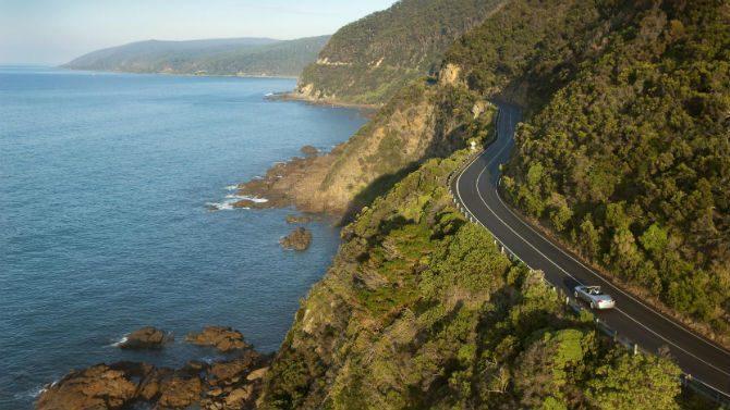 australien great ocean road motorcykel