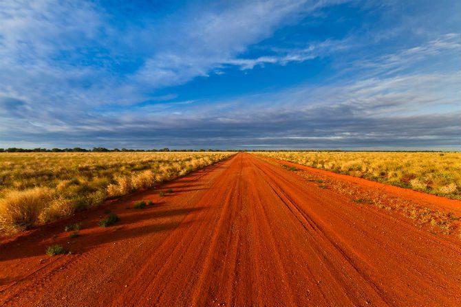 australien the outback motorcykel