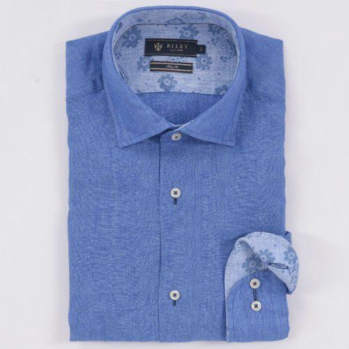 blå linneskjorta herr 2016