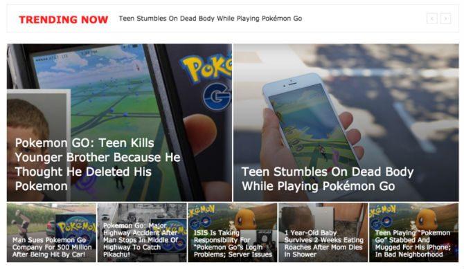Pokemon go fake nyheter