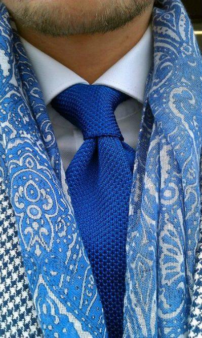 bomulls scarf herr