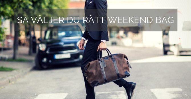 Weekend bag herr stil