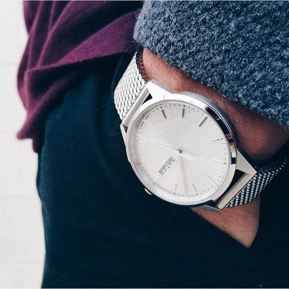 klockor med mesh armband casual