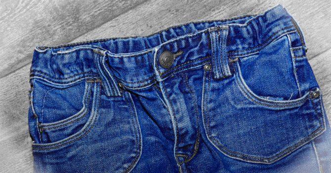 mjuka upp jeans