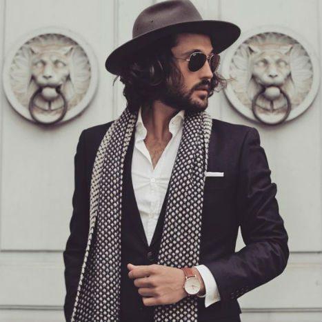 Scarf för män accessoar smart casual