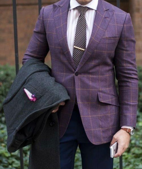 färgglada kläder lila kavaj