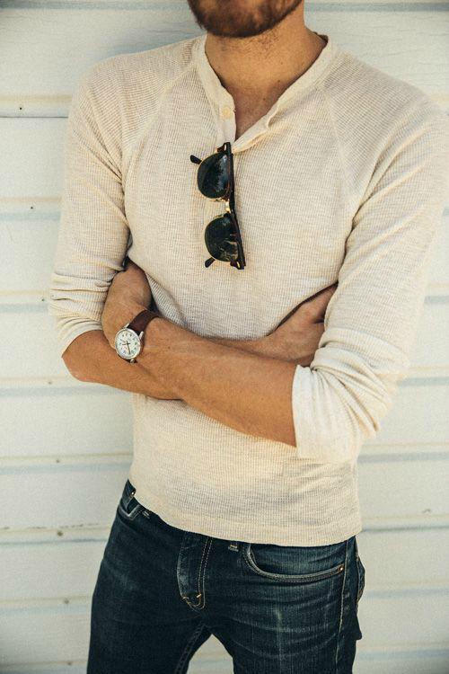 henley-tröja farfarströja jeans
