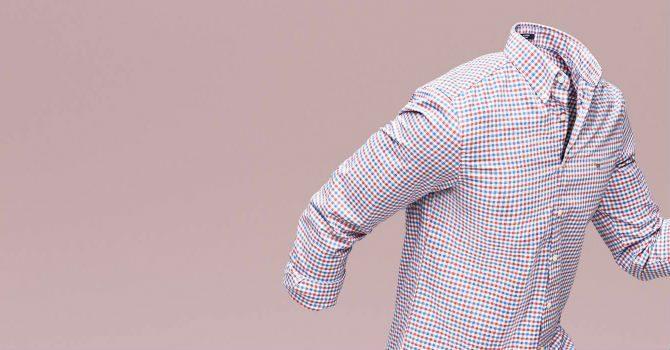 GANT Tech Prep rödrutig skjorta