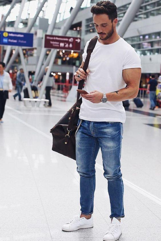 matcha t-shirten snygg outfit man