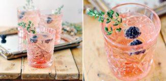 rosa champagnedrinkar