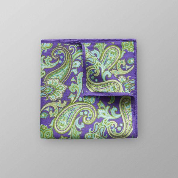 eton bröstnäsduk lila och grön