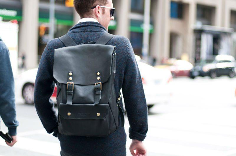 moderna ryggsäckar for män i skinn