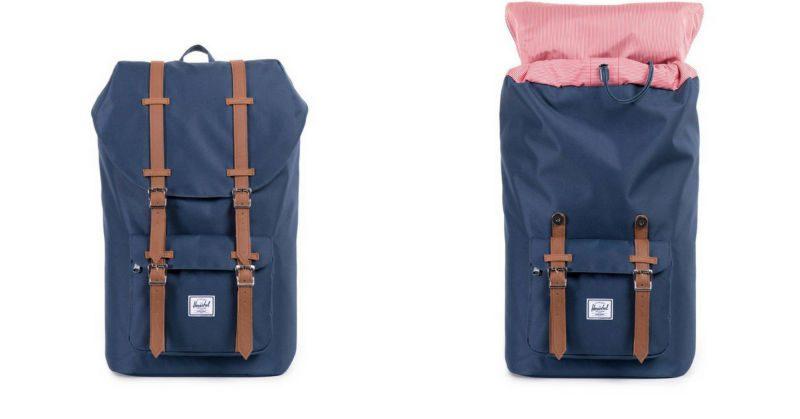 snygga ryggsäckar herschel little america blå