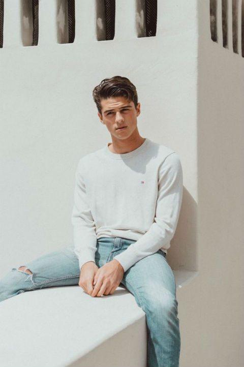 vårmode 2017 herr ljusa jeans