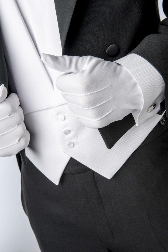 frack vita handskar accessoar