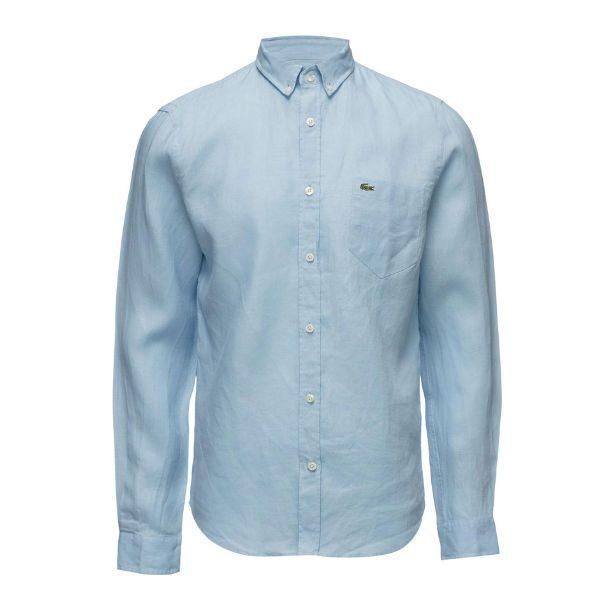 ljusblå skjorta lacoste
