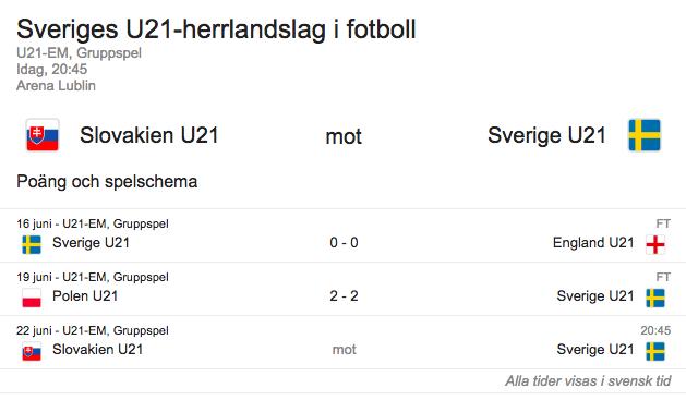 Sverige gruppspel u21 2017