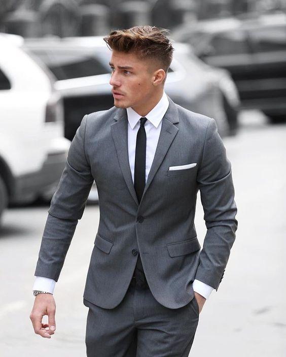 ljusgrå kostym bröllop