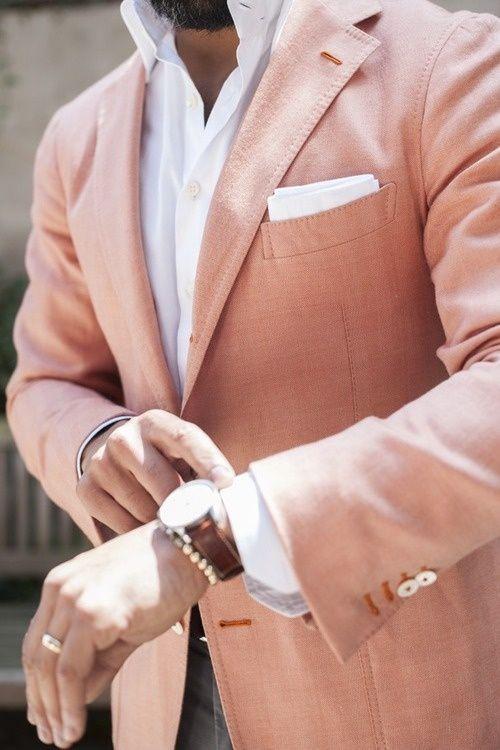 rosa och vitt herr stil