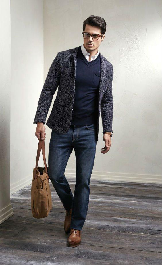 tidlösa klädesplagg blå jeans