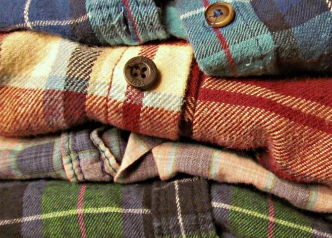 flanellskjortor stil material