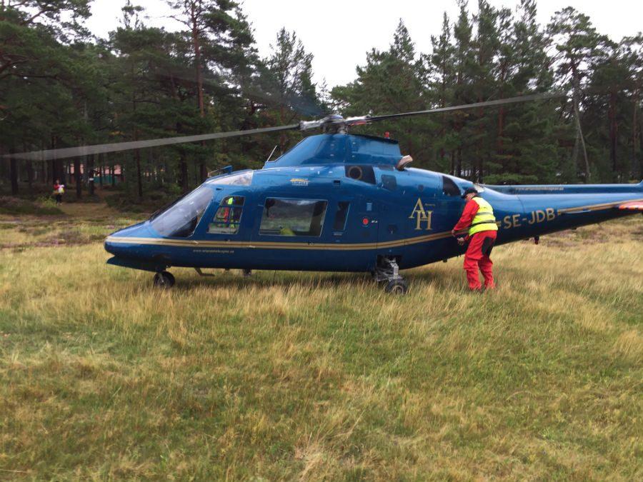 flyga helikopter i stockholm pilot
