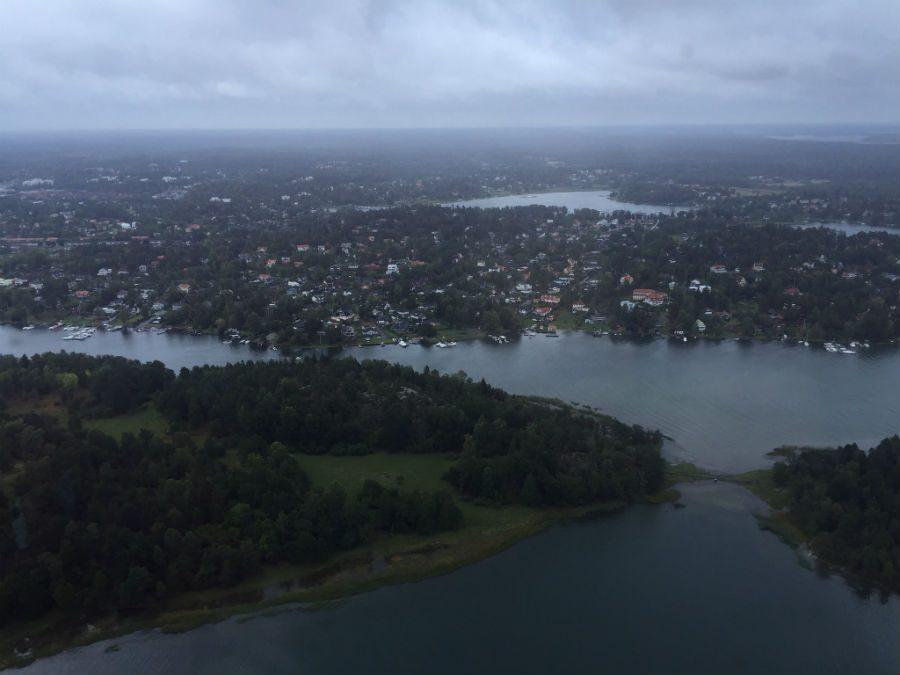flyga helikopter i stockholm stad