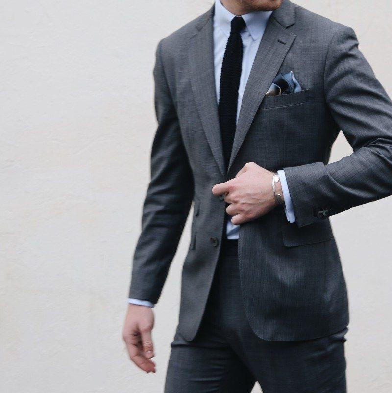 mörkgrå kostym hur många kostymer behöver man