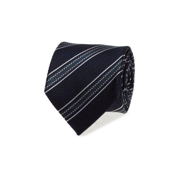 blå vit randig slips herr höst 2017