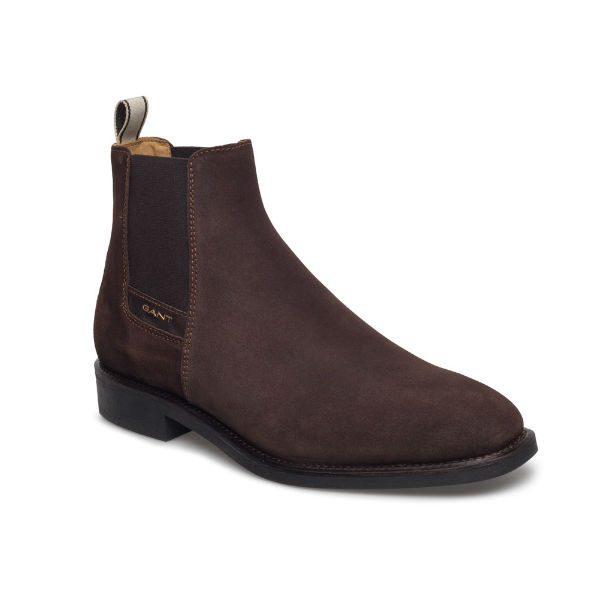 gant chelsea boots brun mocka herr 2017