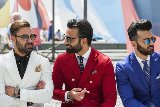 italiensk stil färg kavaj