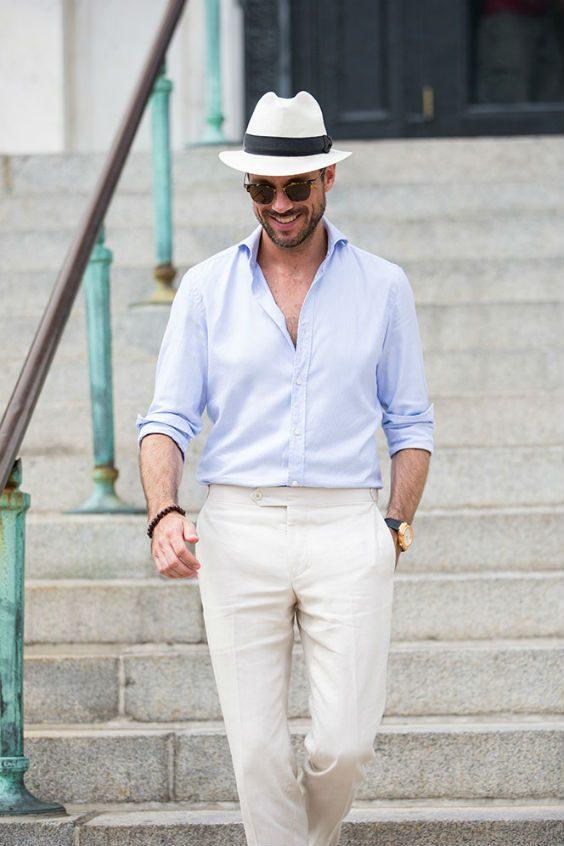 italienskt herrmode hatt