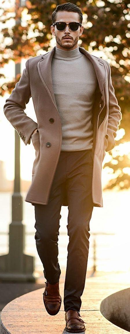 outfit beige rock herr höst 2017