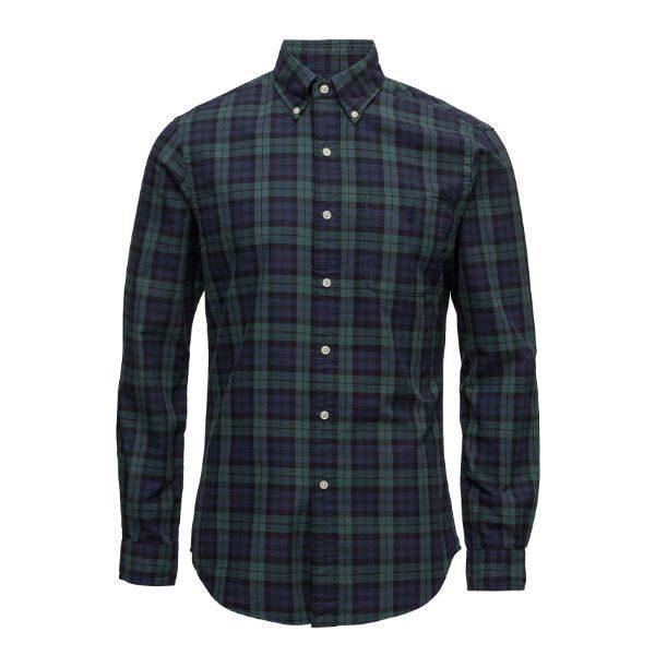polo ralph lauren blå grön flanellskjorta herr 2017