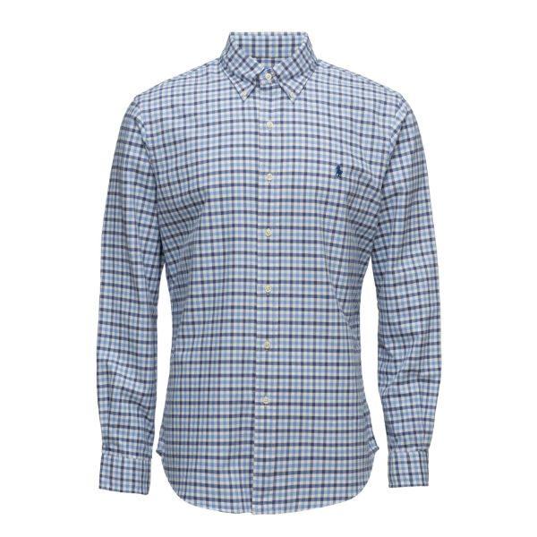 polo ralph lauren skjorta rutig blå herr höst 2017