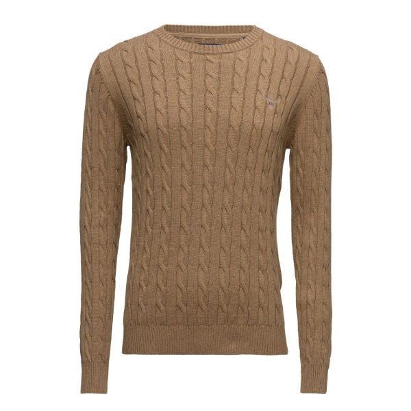 brun stickad tröja gant 2017