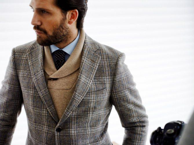 engelskt stil rutig kostym