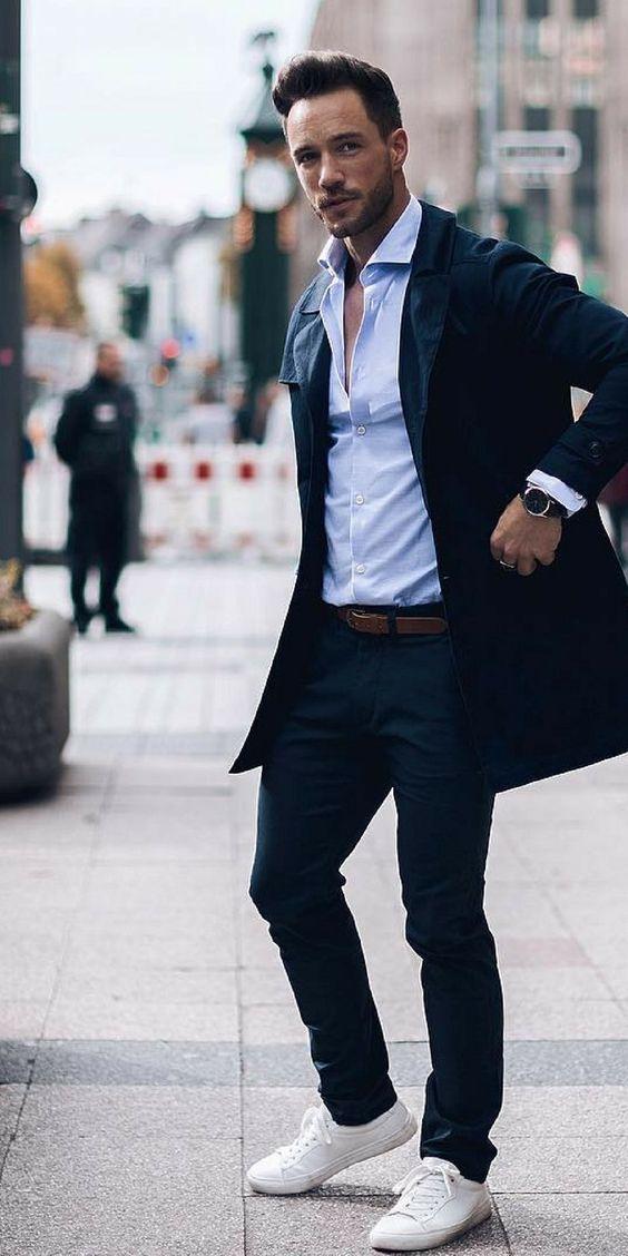 outfit blå rock blå skjorta
