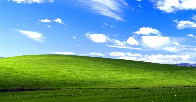 världens mest sedda bild windows xp bakgrundsbild