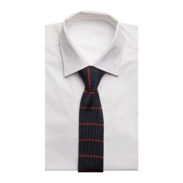 blå röd randig slips herr vinter 2018