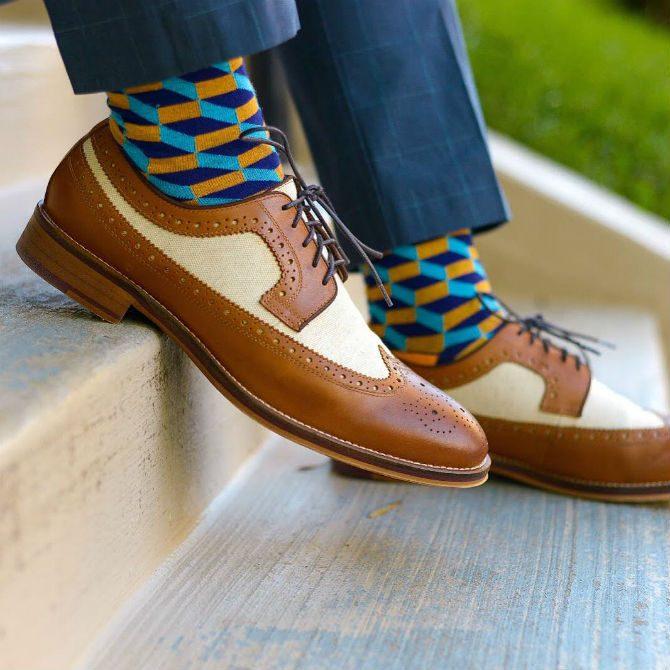 färgade strumpor till kostym mönster