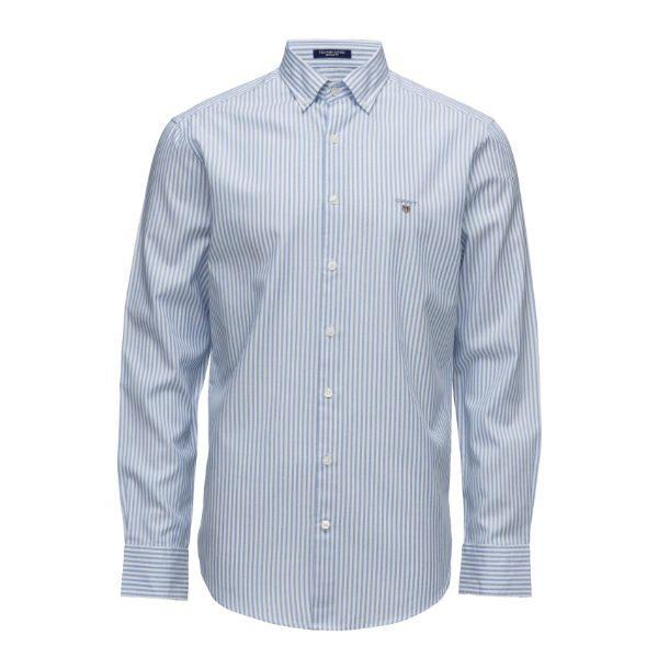 ljusblå randig skjorta gant herr vinter 2018