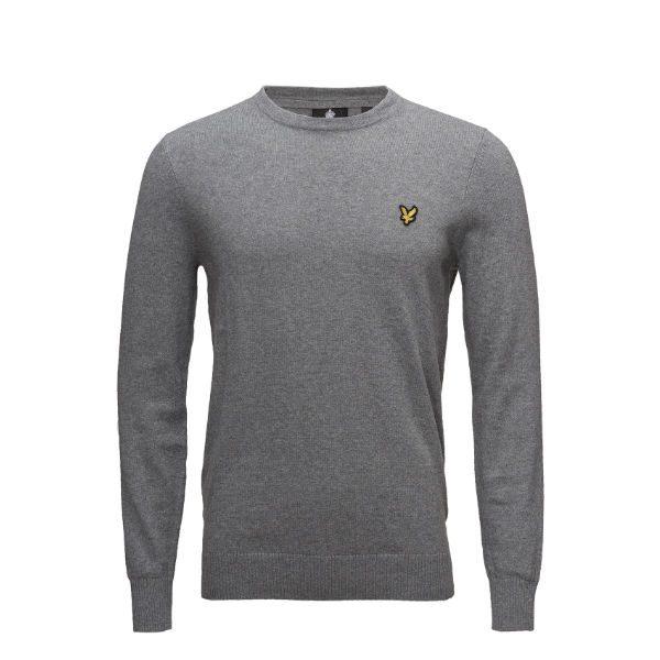 grå fint stickad tröja herr 2018