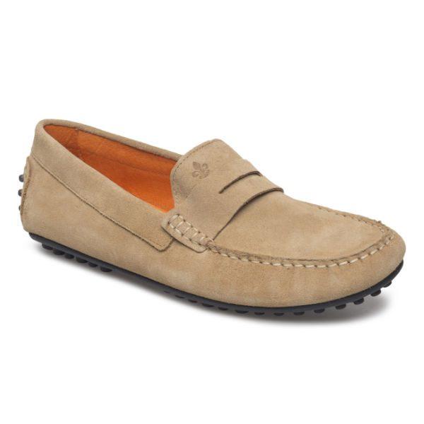 beige loafers herr sommar 2018