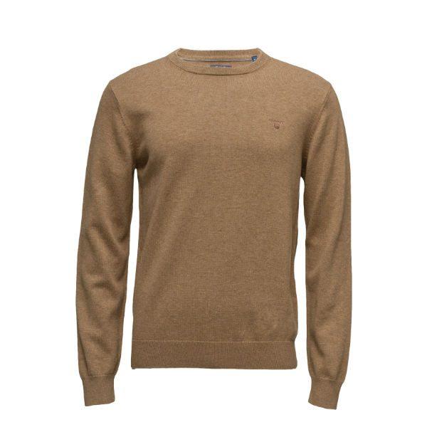 brun beige stickad tröja gant herr 2018