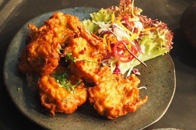 äta nyttigt ute på restaurang friterad