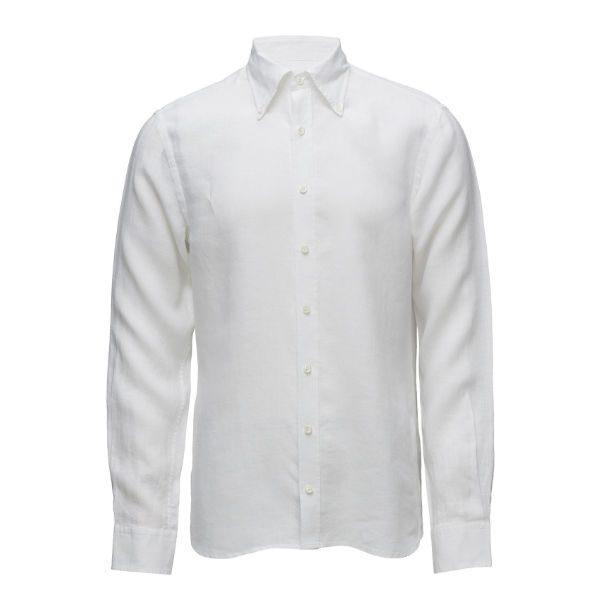 vit skjorta oscar jacobson herr sommar 2018