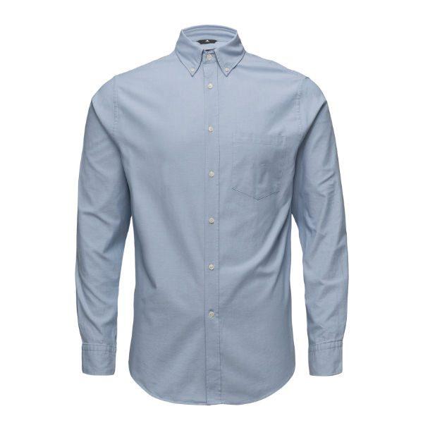 ljusblå skjorta stretch herr sommar 2018