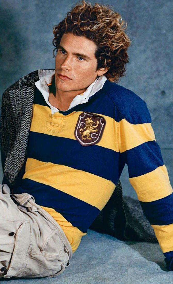 rugbytröja gul blå stil