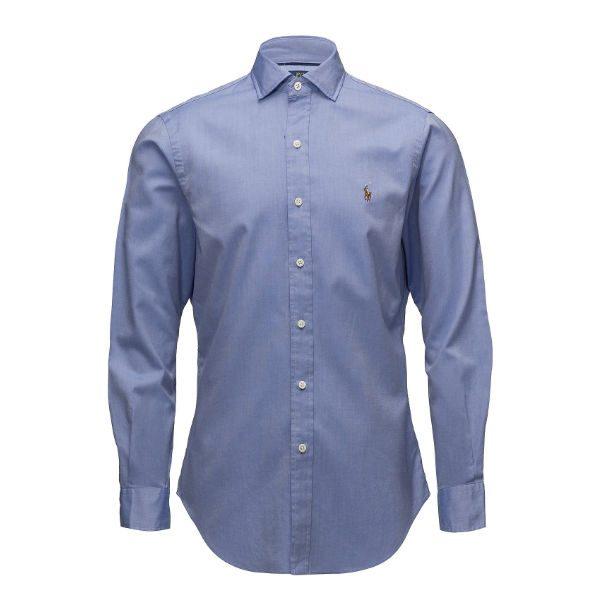 ljusblå skjorta polo ralph lauren höst 2018
